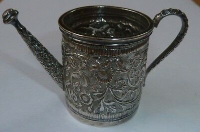 Indian Solid Silver Watering Can Burmese