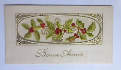 New Year, Embroider, Card, Thistles 1927 (61148)