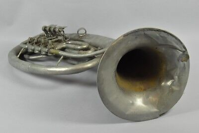 i06o05- Tenor Horn Metall Schuster & Co. Markneukirchen