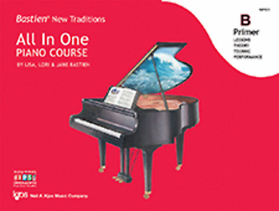 Bastien New Traditions: All In One Piano Course Primer B - Method Book WP451