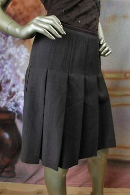 $368 New MARC BY MARC JACOBS Charcoal Black Gray Pleated Wool Mini Skirt 10