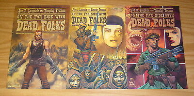 On The Far Side With Dead Folks #1-3 VF/NM complete series JOE R LANSDALE truman