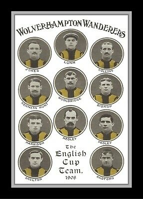 Collectors/Photograph/Print/7 x 5 Photo/Wolverhampton Wanderers 1908 FA Cup