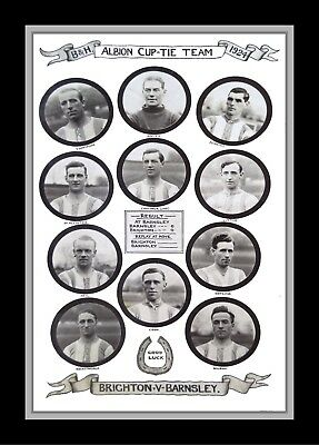 Collectors/Photograph/Print/7 x 5 Photo/Brighton FA Cup Team 1924