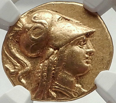 ALEXANDER III the GREAT Gold Stater Ancient Greek Coin SALAMIS CYPRUS NGC AU