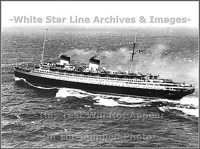 Photo: The Italian Line's SS REX At Sea: Engines All Ahead Full, 1938