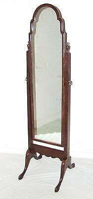 Antique Edwardian Mahogany Framed Cheval Mirror / Dressing Mirror c 1900