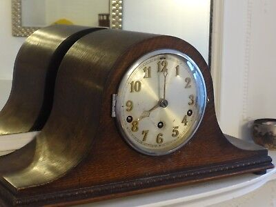 Antique Oak Cased Multi Chime Mantel Clock, Westminster & Whittington Option