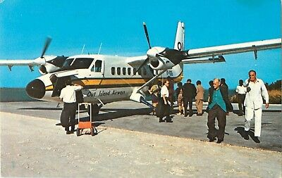 c1960s Out Islands Airways - Harbour Island, Bahamas Postcard