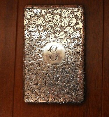 1901 Antique English Sterling Silver Vesta Case by Sampson Mordan 93.5g