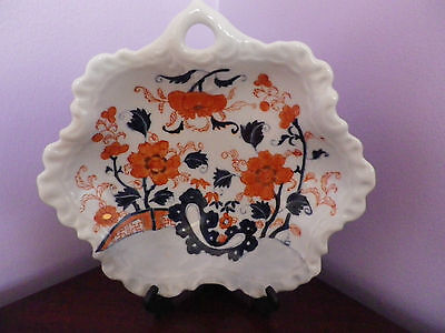 Fab Vintage Oriental Imari Style Flower Design Bowl Decorated In Hong Kong