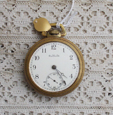 "RARE Vintage Antique A.W. Co. Waltham 2.25"" Wind Up Pocket Watch Large Works NR"