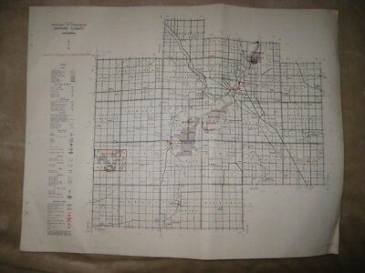 Antique 1961 Saginaw County Waukee Michigan Map Hunting Fishing Road Highway