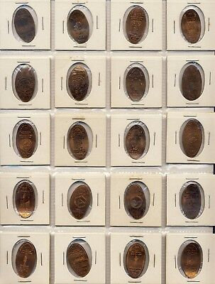 Lot of 20 Commemorative Elongated Pennies - World's Fairs & Expositions