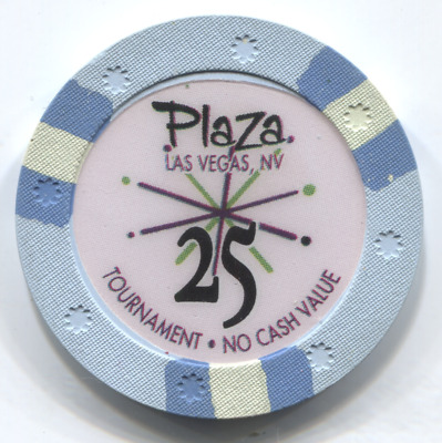 $25 Ncv Tournamint Casino Chip Las Vegas Plaza Casino