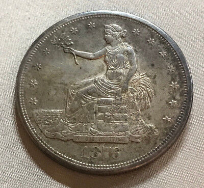 1876-S Choice Almost Uncirculated Trade Dollar - Estate Found -