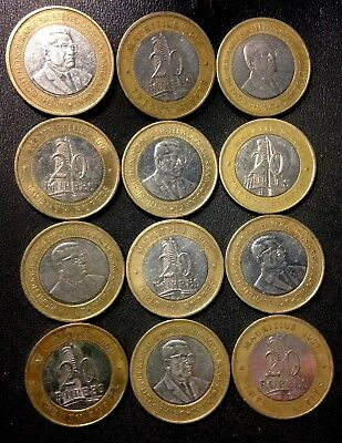 Old MAURITIUS Coin Lot - 12 Great Scarce Coins - 20 Rupees - Lot #A16