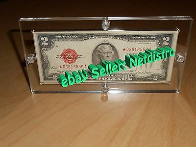Single Acrylic Bank Note Money Currency Display Dollar Frame Holder Plastic Case