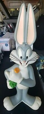 """1998 Warner Bros Large Bugs Bunny Statue-RARE Excellent Condition 26"""" Tall LARGE"""