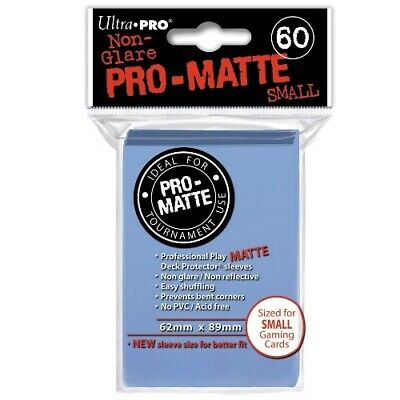 Ultra Pro 60 Pro Matte-Small Size Light Blue Deck Protector Sleeves 84270