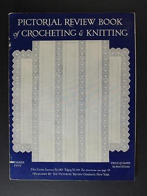 1920 PICTORIAL REVIEW BOOK of CROCHETING & KNITTING CATALOG/MAGAZINE~32 Pages