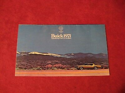 1971 Buick Electra GS Riviera Showroom Dealership Large Brochure Original Old