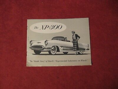1953? Buick XP300 Salesman Dealership Brochure Original Booklet Old Catalog  GM