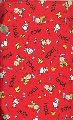 """SNOOPY BASEBALL ON BLUE 18/""""X22/"""" FQ OOP RELEASED 2000"""