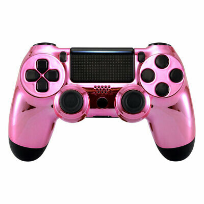 For Dualshock 4 PS4 Pro Slim Controller Replace Front Shell Chrome Pink CUH-ZCT2