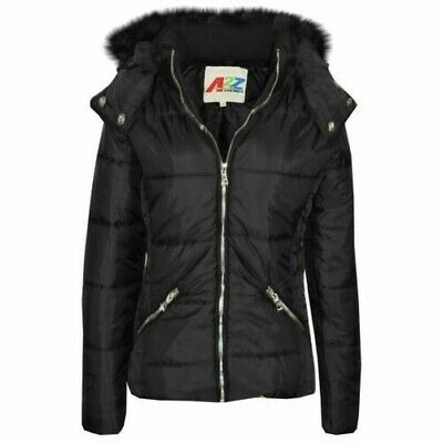 Girls Jacket Kids Red Wetlook Cropped Padded Quilted Puffer Bubble Jackets Coat