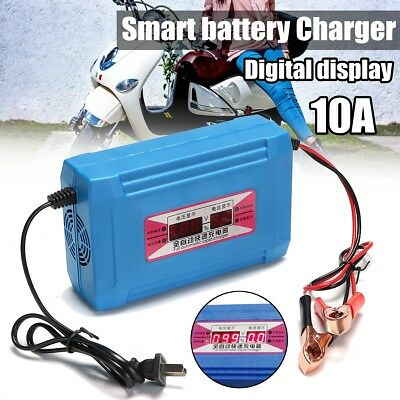 12v 10a Auto Kfz Motorrad Smart Batterie Ladegerat Led Digital