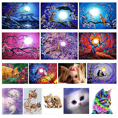 Katze DIY 5D Diamond Painting Diamant Stickerei Malerei Bilder Stickpackung