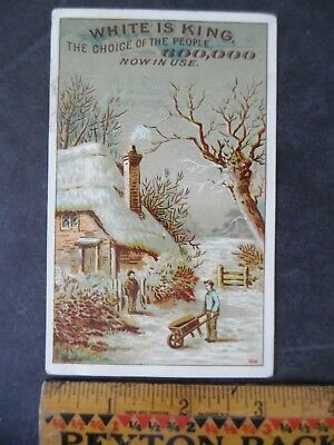 White Sewing Machine Company Advertising Victorian Trade Card