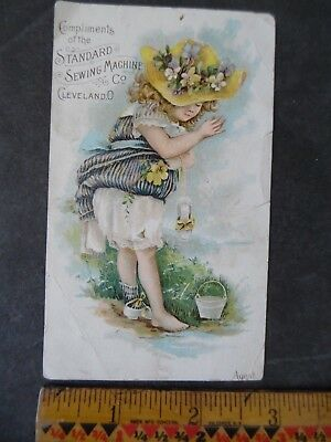 Standard Sewing Machine Co Advertising Victorian Trade Card