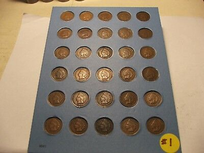 Set of (30)  Indian Head Cents 1880-1909  circulated Good+ no junk! #1 of 6