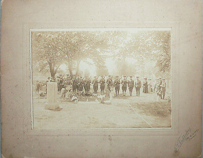 Rare -Spanish-American War- US Army Honor Guard Military Funeral Cabinet Photo