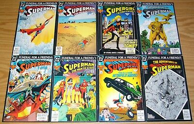 Superman: Funeral For A Friend #1-8 VF/NM complete story + epilogue + (2) more