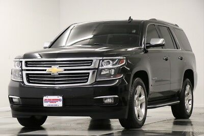 Chevrolet Tahoe 4X4 LTZ DVD Sunroof GPS Leather Black 4WD Used Heated Cooled Seats Player Navigation Captains Camera 7 Passenger 16 2016