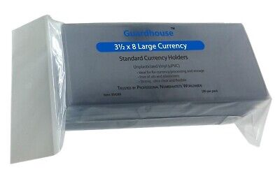 1 Guardhouse Large Currency Holder 3.5 x 8 Unplasticized 7 mil sleeve #945-1