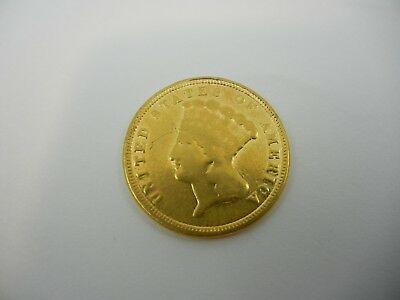 1864 US $3 Gold Coin - No Reserve!