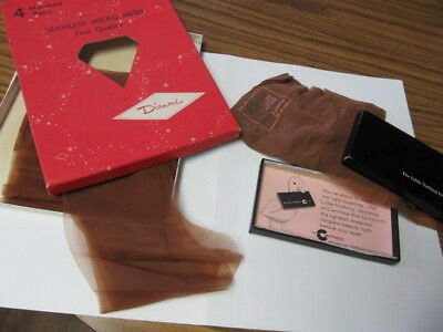 Vtg Lot of 2 Pairs Nylon Stockings in Origional Boxes ~ Cameo & Diamond