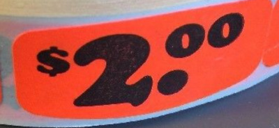 """$2.00 Price 1.5"""" X .625 LABELS 1000 PER ROLL GREAT STICKERS"""