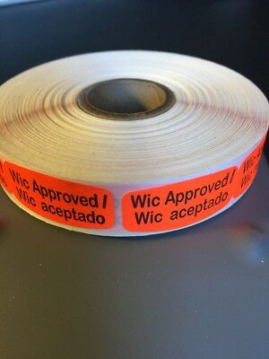 Wic Approved Spanish English LABELS 1000 PER ROLL STICKERS
