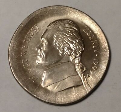 1999p massive broadstruck Jefferson nickel 563