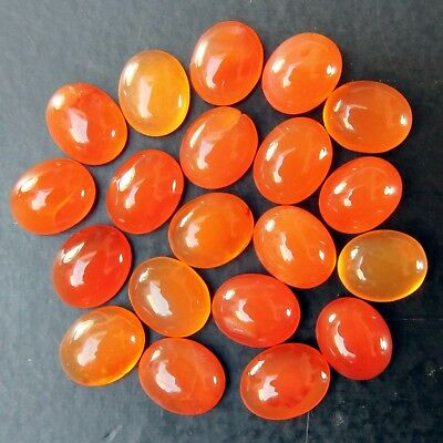 Lot of 11x9mm Oval Cabochon Low Grade Natural Earth Mined Carnelian Gemstone