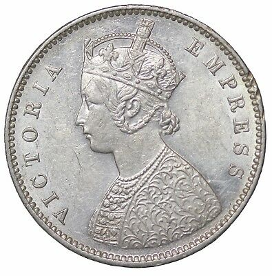 British India 1899-B Queen Victoria Silver 1/2 Half Rupee KM#491
