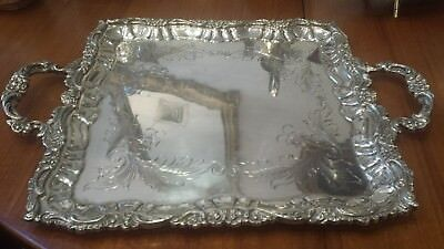 1500g MASTERPIECE STERLING SILVER HANDLE TRAY FLOWER BOUQUET STYLE: PASGORCY HM
