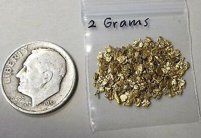 Gold Nuggets and flakes from Alaska, 2 Grams.