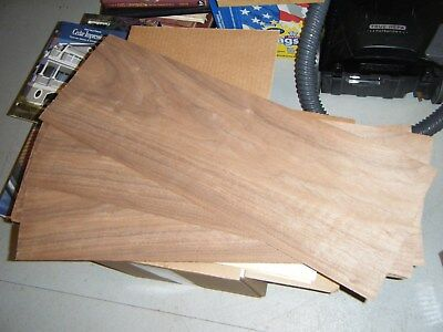"Walnut Wood Veneer 1/16"" THICK Raw/Unbacked (14 pc - 8 x 24"") 24"" long"