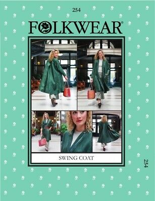 FREE UK P&P - Folkwear Patterns Ladies Sewing Pattern Swing Coat ...
